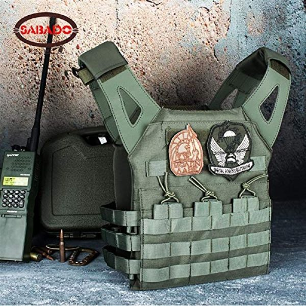 Shefure Airsoft Tactical Vest 4 Shefure Cardura Rip-Stop Military Tactical Combat Vests,Outdoor Hunting Waistcoats Anti-stab Thickening Paintball Vest