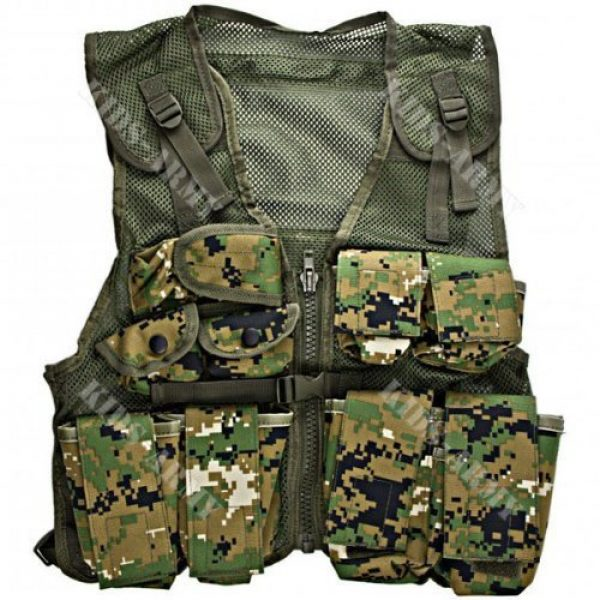 Kids-Army Airsoft Tactical Vest 1 Kids Army Combat Vest - Woodland Digital