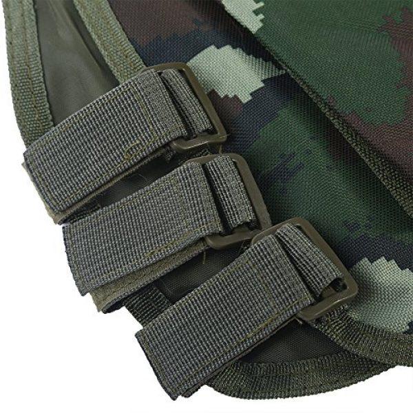 Fishlor Airsoft Tactical Vest 3 Fishlor Adjustable Camouflage Vest, Children Camouflage V-Neckline Vest with Multi Pocket for Outdoor Hunting Game(Jungle Camouflage L)