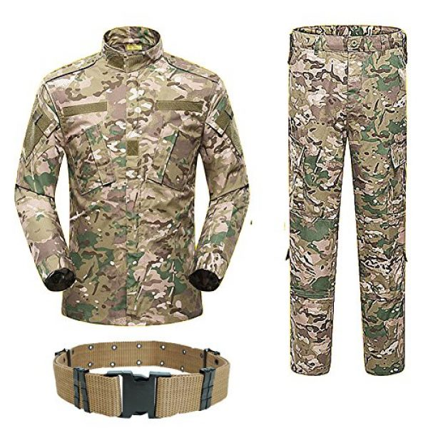 H World Shopping Tactical Shirt 1 Men Tactical BDU Combat Uniform Jacket Shirt & Pants Suit for Army Military Airsoft Paintball Hunting Shooting War Game Multicam MC