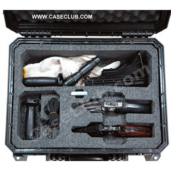 Case Club Pistol Case 5 Case Club Waterproof 2 Revolver/Semi-Auto Case with Accessory Pocket & Silica Gel