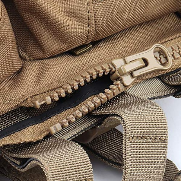 DETECH Airsoft Tactical Vest 3 DETECH Tactical JPC MOLLE Vest with Backpack Expand Bag for Airsoft Paintball Hunting