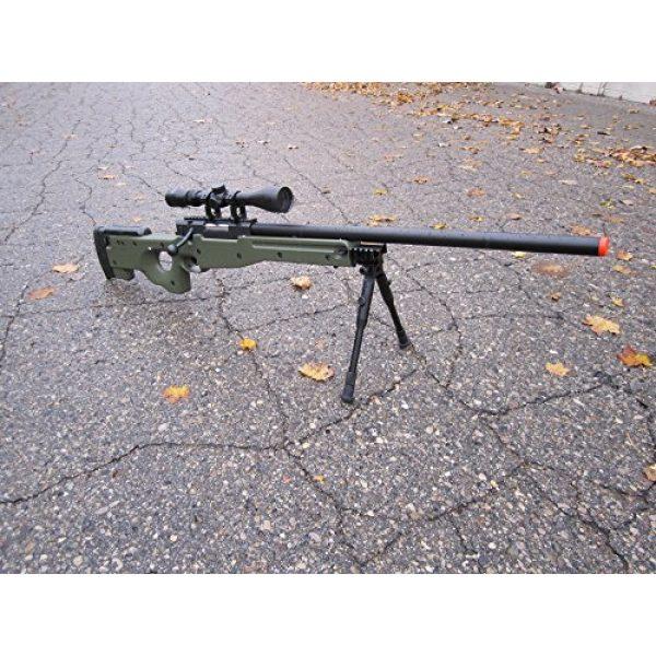 Well Airsoft Rifle 2 wellfire mk96 bolt action awp sniper rifle w/ scope and bipod - od(Airsoft Gun)
