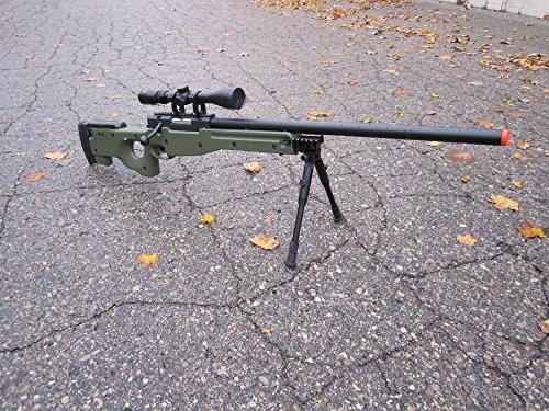 Well  2 wellfire mk96 bolt action awp sniper rifle w/ scope and bipod - od(Airsoft Gun)