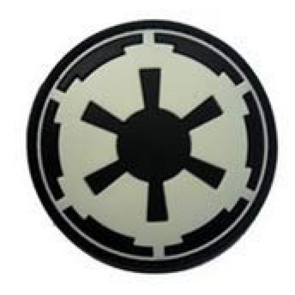 Tactical PVC Patch Airsoft Morale Patch 1 Star Wars Imperial Galactic Empire Morale Military Patch 3D PVC Rubber Tactical Rubber Hook Patch (Noctilucous)