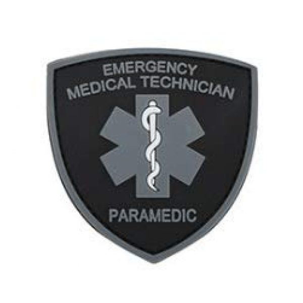 Tactical PVC Patch Airsoft Morale Patch 1 Medical Technician Paramedic PVC Military Tactical Morale Patch Badges Emblem Applique Hook Patches for Clothes Backpack Accessories