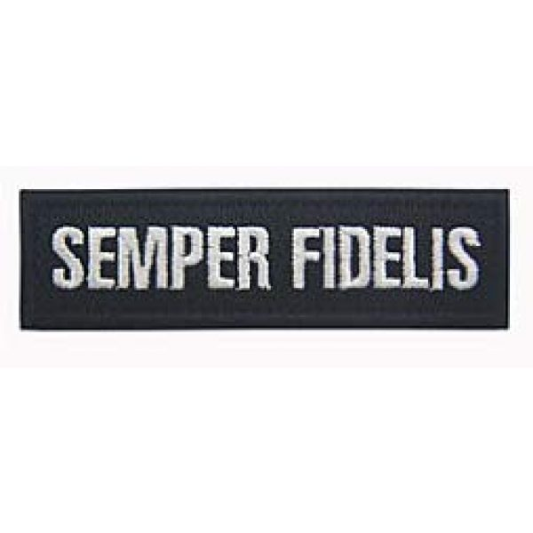 Embroidery Patch Airsoft Morale Patch 3 2 Pieces Semper Fidelis US Military Hook Loop Tactics Morale Embroidered Patch (color3)