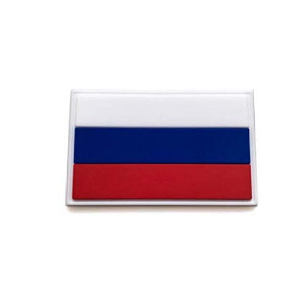 Tactical PVC Patch Airsoft Morale Patch 3 Russia Flag PVC Military Tactical Morale Patch Badges Emblem Applique Hook Patches for Clothes Backpack Accessories