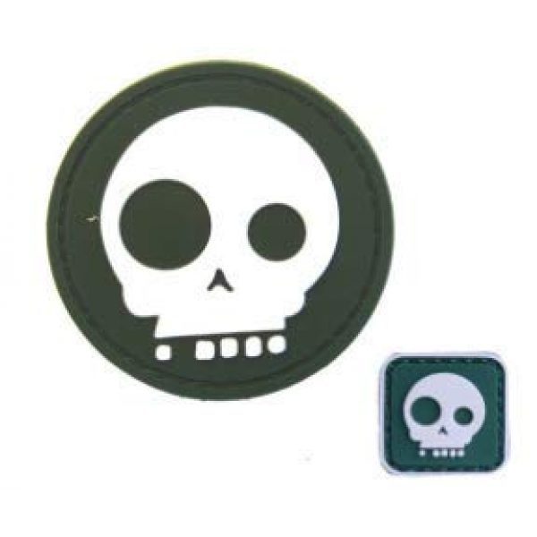 Tactical PVC Patch Airsoft Morale Patch 1 2pcs Big & Small Eyes Skull PVC Military Tactical Morale Patch Badges Emblem Applique Hook Patches for Clothes Backpack Accessories