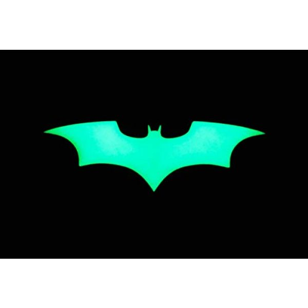 Empire Tactical USA Airsoft Morale Patch 2 The Batman Wings - Glow in The Dark - Comic Dark Knight Symbol PVC Morale Patch