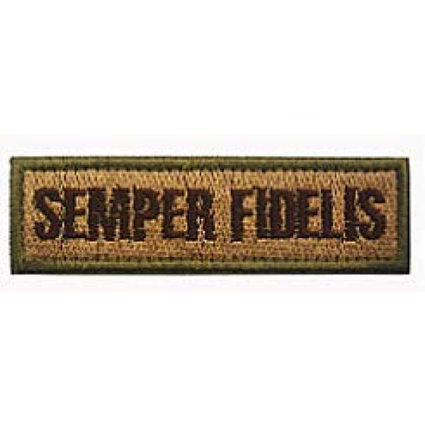 Embroidery Patch Airsoft Morale Patch 2 2 Pieces Semper Fidelis US Military Hook Loop Tactics Morale Embroidered Patch (color3)