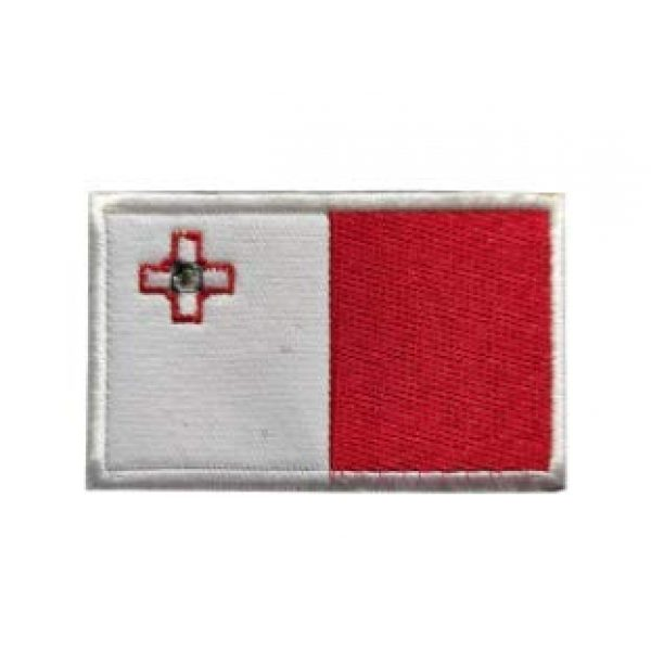 Tactical Embroidery Patch Airsoft Morale Patch 1 Malta Flag Embroidery Patch Military Tactical Morale Patch Badges Emblem Applique Hook Patches for Clothes Backpack Accessories