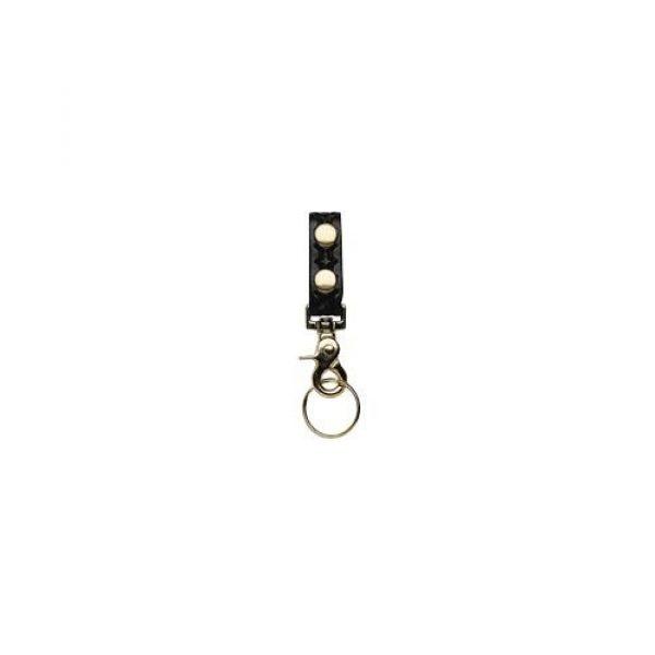 Boston Leather Tactical Pouch 1 Boston Leather 5436-3-B Black Belt Keeper w/Deluxe Swivel Key Ring Combo