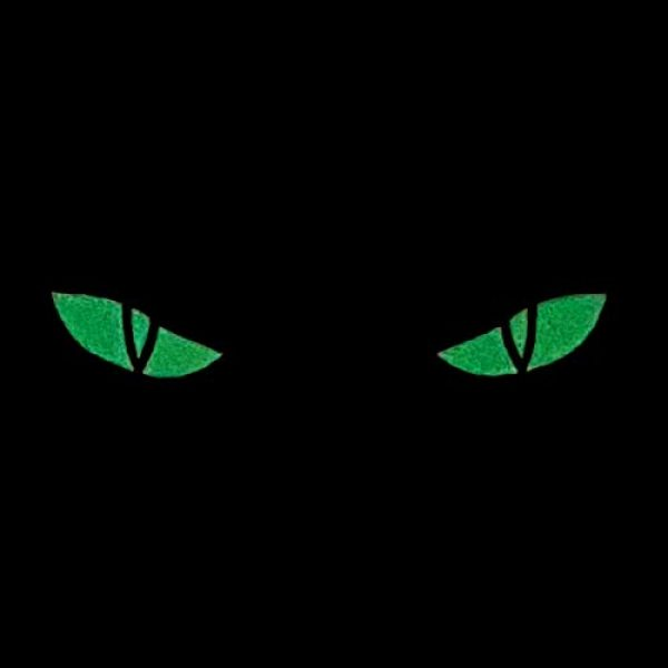 Tactical Freaky Airsoft Morale Patch 2 Glow Dark Scary Cat Eyes 1x5 GITD Eye Morale Tactical Touch Fastener Patch