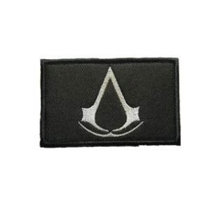 Tactical Embroidery Patch Airsoft Morale Patch 1 Assassin's Creed Tactical Embroidery Patch Hook & Loop Morale Patch Military Patch for Clothing Accessory Backpack Armband