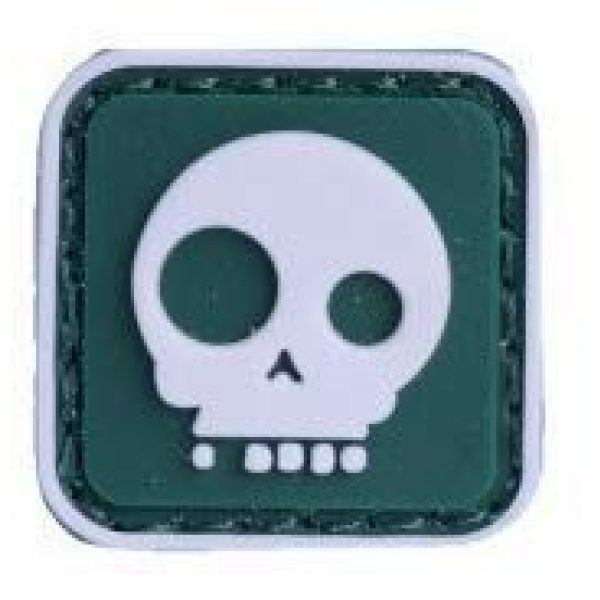 Tactical PVC Patch Airsoft Morale Patch 3 2pcs Big & Small Eyes Skull PVC Military Tactical Morale Patch Badges Emblem Applique Hook Patches for Clothes Backpack Accessories
