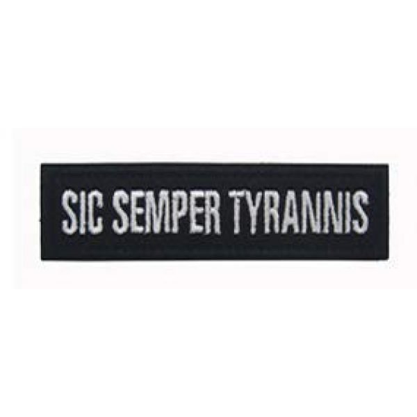 Embroidery Patch Airsoft Morale Patch 1 SIC Semper TYRANNIS Embroidery Patch Military Tactical Clothing Accessory Backpack Armband Sticker Gift Patch Decorative Patch Embroidered Patch