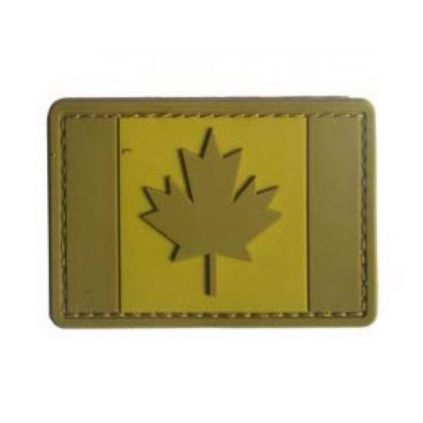 Tactical PVC Patch Airsoft Morale Patch 3 Canada Flag PVC Military Tactical Morale Patch Badges Emblem Applique Hook Patches for Clothes Backpack Accessories
