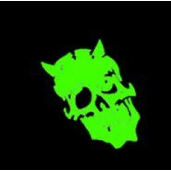Tactical PVC Patch Airsoft Morale Patch 5 Skull Devil Satan Glow-in-Dark Morale Military Patch 3D PVC Rubber Tactical Rubber Hook Patch (3pcs)