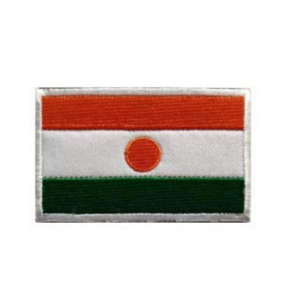 Tactical Embroidery Patch Airsoft Morale Patch 1 Niger Flag Embroidery Patch Military Tactical Morale Patch Badges Emblem Applique Hook Patches for Clothes Backpack Accessories