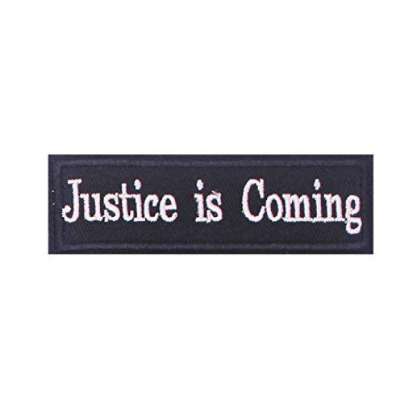DATOUWEN ACCESSARY Airsoft Morale Patch 1 ZHDTW Tactical Morale Patches Words Justice is Coming with Hook and Loop for Tactical Backpacks (DT-024)