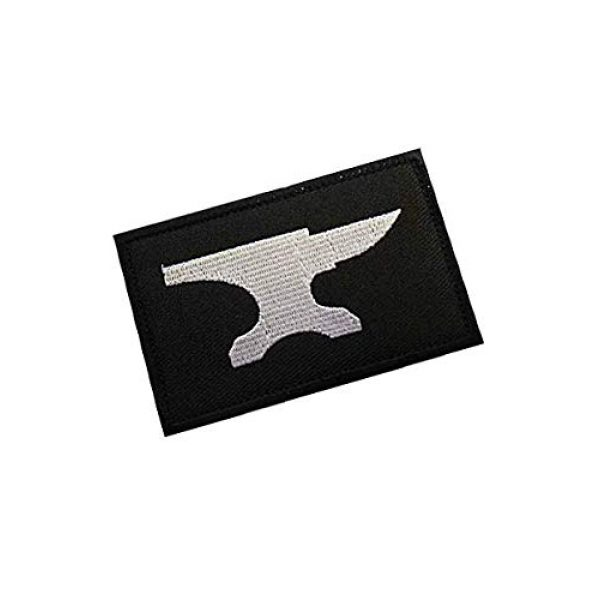 Embroidery Patch Airsoft Morale Patch 2 Blacksmith Military Hook Loop Tactics Morale Embroidered Patch