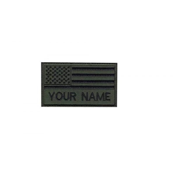 DREAM ARMY Airsoft Morale Patch 1 Custom Name Text Green Army American Flag Embroidered Morale Patch Hook Backing