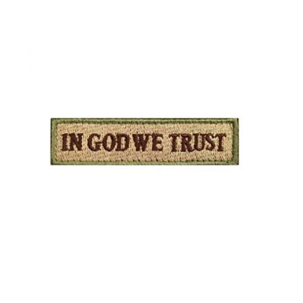 Chien Airsoft Morale Patch 3 Chien Tactical Morale Embroidery Patch Funny Military Patch USA Flag Full Embroidered Appliques for Caps Bags Vests Military Uniforms (2 Pieces Multitan(USA+in GOD WE Trust))