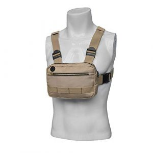 Wisfun Tactical Pouch 1 Wisfun Tactical Chest Bag, Molle Outdoor Sports Chest Bag Adjustable Functional Chest Rig Bag