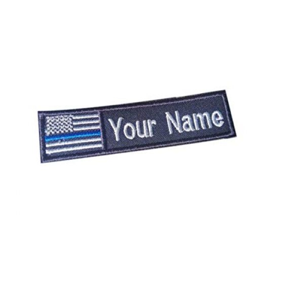 Tactical Morale Patch Airsoft Morale Patch 1 Custom Name Text American Flag Thin Blue LINE Morale Patch Hook & Loop Backing 4x1 inch