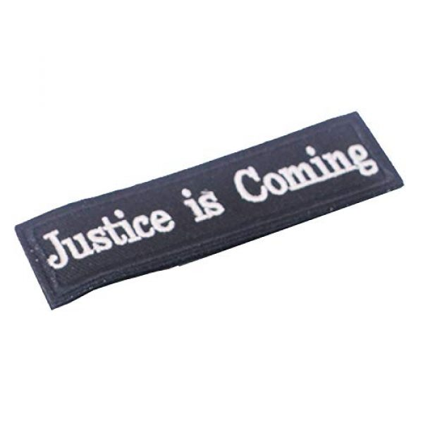 DATOUWEN ACCESSARY Airsoft Morale Patch 2 ZHDTW Tactical Morale Patches Words Justice is Coming with Hook and Loop for Tactical Backpacks (DT-024)