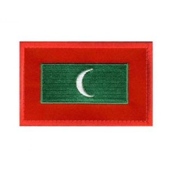 Tactical Embroidery Patch Airsoft Morale Patch 1 Maldives Flag Embroidery Patch Military Tactical Morale Patch Badges Emblem Applique Hook Patches for Clothes Backpack Accessories