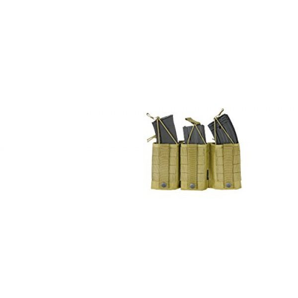 Airsoft Tactical Pouch 1 AirSoft AMA Tactical M4 Triple Wedge Mag Pouch - Khaki