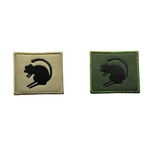 Tactical Embroidery Patch Airsoft Morale Patch 1 British Army Famous Desert Rats TRF Combat Tactical Embroidery Patch Hook & Loop Morale Patch Military Patch for Clothing Accessory Backpack Armband (2pcs)