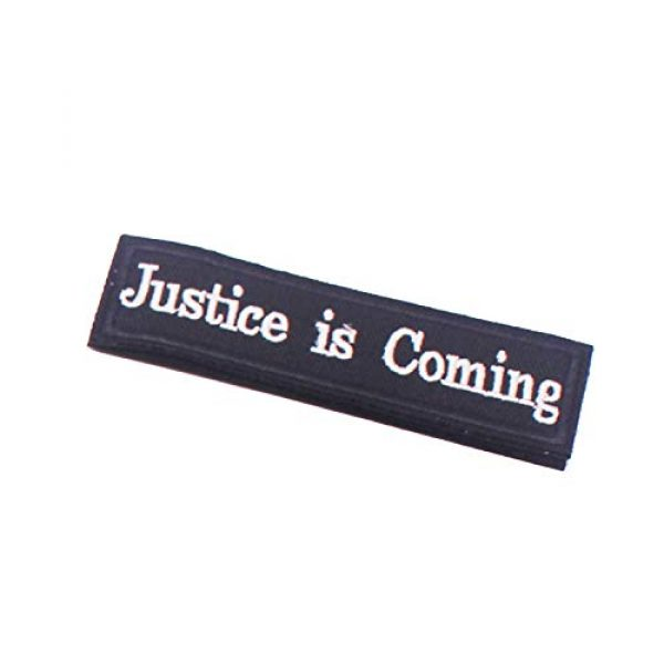 DATOUWEN ACCESSARY Airsoft Morale Patch 3 ZHDTW Tactical Morale Patches Words Justice is Coming with Hook and Loop for Tactical Backpacks (DT-024)