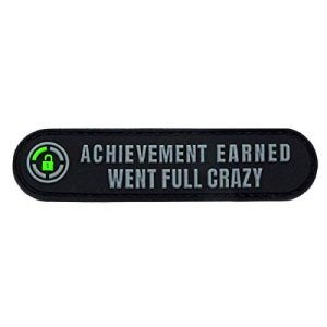 """Miltacusa Airsoft Morale Patch 1 Achievement Earned Tropic Thunder Went Full Patch [PVC Rubber -Velcro Brand"""" Fastener - 3.5 X 0.75 -WY7]"""