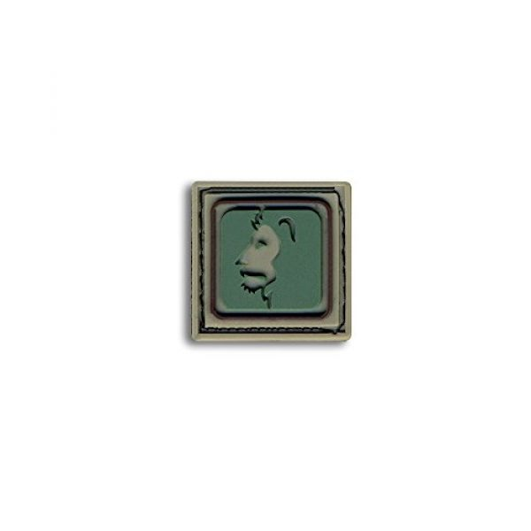 BASTION Airsoft Morale Patch 1 Bastion Tactical Combat Badge PVC Morale Patch Hook and Loop Patch - Leo Lite Grn