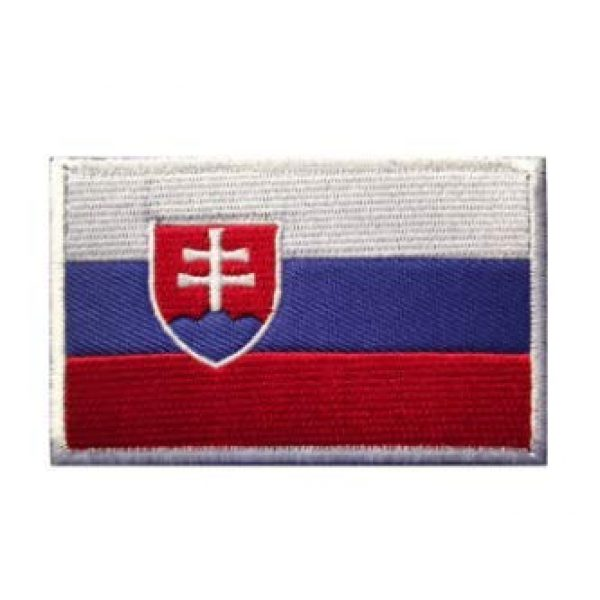 Tactical Embroidery Patch Airsoft Morale Patch 1 Slovakia Flag Embroidery Patch Military Tactical Morale Patch Badges Emblem Applique Hook Patches for Clothes Backpack Accessories