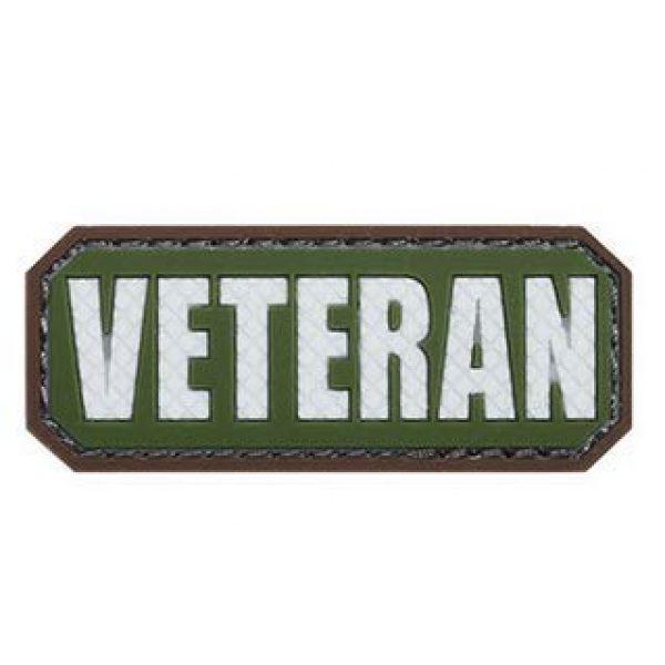 Tactical PVC Patch Airsoft Morale Patch 2 Veteran Morale Military Patch 3D PVC Rubber Tactical Rubber Hook Patch (4pcs)