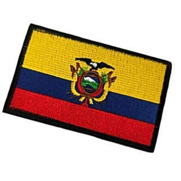 Embroidery Patch Airsoft Morale Patch 3 Ecuadorian Flag Patch Military Hook Loop Tactics Morale Embroidered Patch