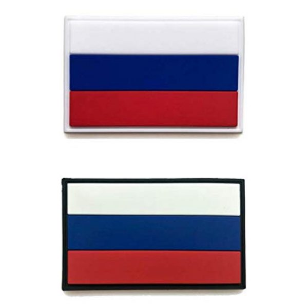Tactical PVC Patch Airsoft Morale Patch 1 Russia Flag PVC Military Tactical Morale Patch Badges Emblem Applique Hook Patches for Clothes Backpack Accessories