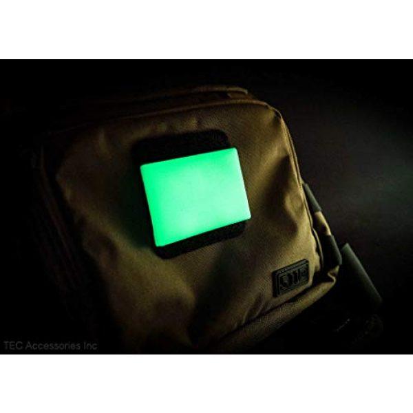 "TEC Accessories Airsoft Morale Patch 7 Embrite BEACON Morale Patch - 2"" x 3"" glow in the dark Velcro attachment"
