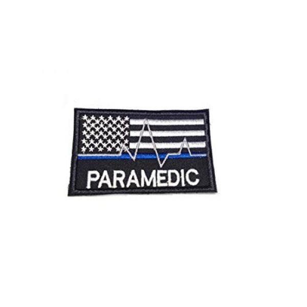 Tactical Morale Patch Airsoft Morale Patch 1 American Flag USA Flag Thin Blue Line Medic Paramedic EMT EMS Tactical Morale Black OPS Gray Morale Patch Hook Backing