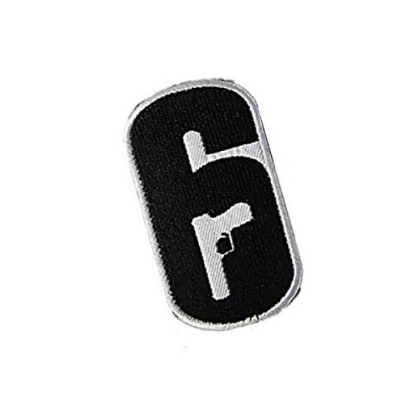 Embroidery Patch Airsoft Morale Patch 2 Rainbow Six Logo Military Hook Loop Tactics Morale Embroidered Patch