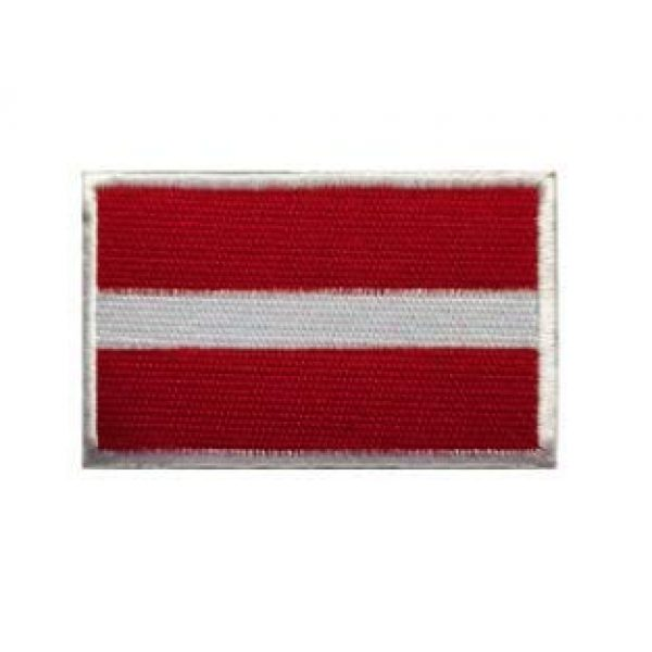 Tactical Embroidery Patch Airsoft Morale Patch 1 Latvia Flag Embroidery Patch Military Tactical Morale Patch Badges Emblem Applique Hook Patches for Clothes Backpack Accessories