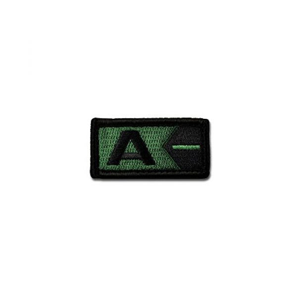 BASTION Airsoft Morale Patch 1 BASTION Morale Patches (Blood Type A Neg, ODG) | 3D Embroidered Patches with Hook & Loop Fastener Backing | Well-Made Clean Stitching | Military Patches for Tactical Bag, Hats & Vest