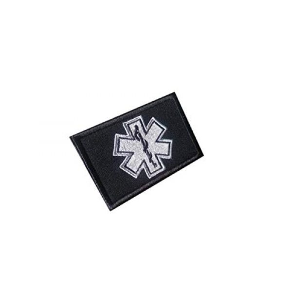 Tactical Morale Patch Airsoft Morale Patch 1 GG4 EMT Star of Life Tactical Morale Patch Hook Backing Gray Color