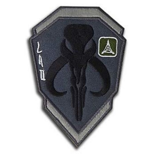 Embroidery Patch Airsoft Morale Patch 1 Star Wars Boba Fett Mandalorian Bantha Skull Military Hook Loop Tactics Morale Embroidered Patch (color3)