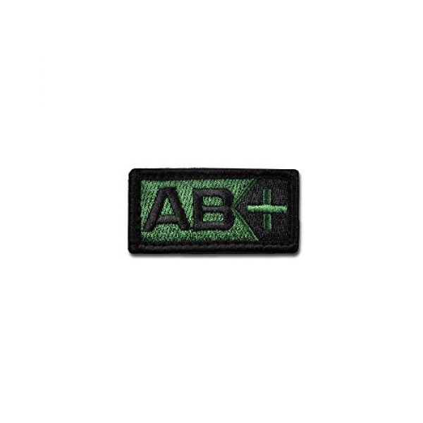 BASTION Airsoft Morale Patch 1 BASTION Morale Patches (Blood Type AB Pos, ODG) | 3D Embroidered Patches with Hook & Loop Fastener Backing | Well-Made Clean Stitching | Military Patches for Tactical Bag, Hats & Vest