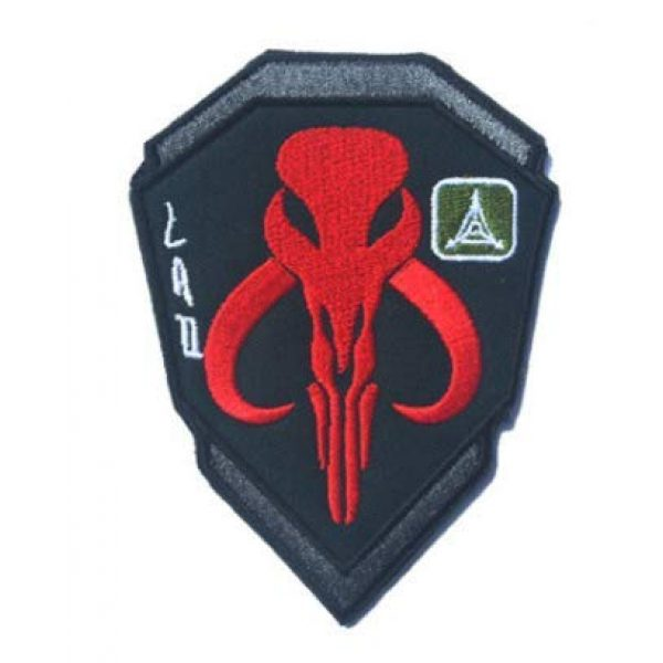 Embroidered Patch Airsoft Morale Patch 1 Mandalorian Skull Star Wars Boba Fetter 3D Tactical Patch Military Embroidered Morale Tags Badge Embroidered Patch DIY Applique Shoulder Patch Embroidery Gift Patch